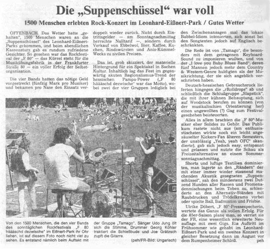 Artikel Offenbach Post, 1984