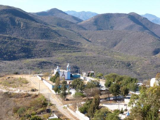 Hameau dans la région de Huajuapan sur la route 190