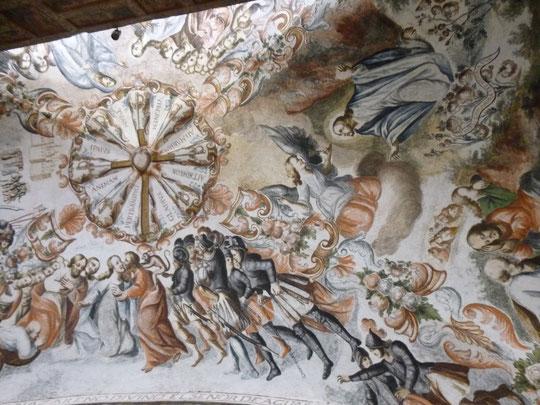 Plafond de l'église de Atotonilco
