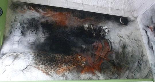 """""""la nuit"""", peinture murale de Fernando Castro Pacheco"""