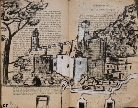 Le couvent Santo Domingo d'Atlixco, croqué par Daniel