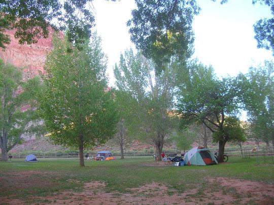 camping bondé à l'américaine