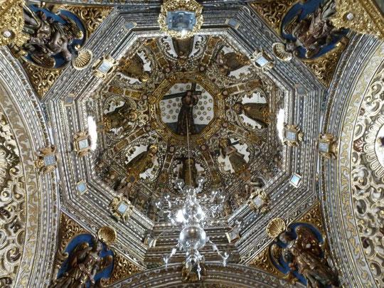 plafond de l'église de Tlacolula