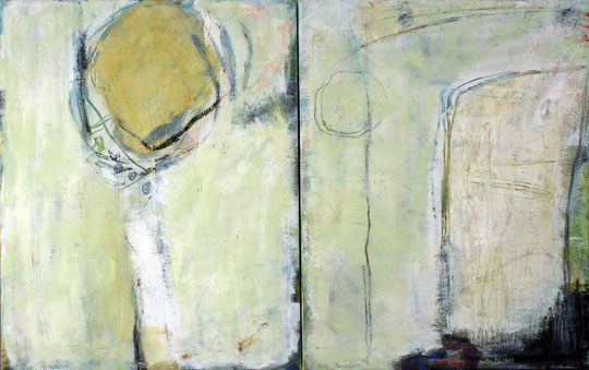 Winter Dyptichon Öl-Tempera auf Leinwand je 50 cm x 40 cm