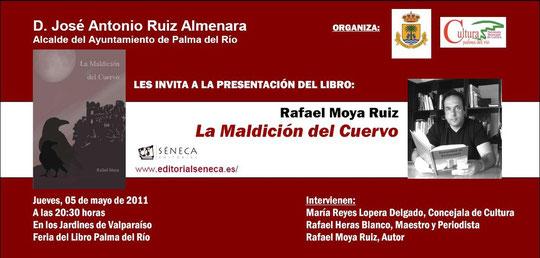 Invitación a la presentación en Palma del Río del Libro de Rafael Moya Ruiz.