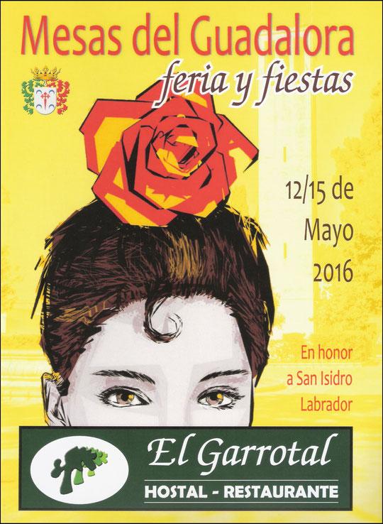 """Cartel """"Feria de San Isidro Labrador 2016"""" en MESAS DEL GUADALORA. - Haz """"clic"""" en la imagen para ampliar."""