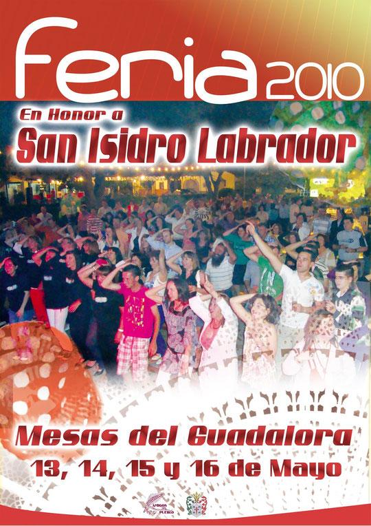 """Cartel FERIA DE """"SAN ISIDRO LABRADOR 2010"""" en Mesas del Guadalora."""
