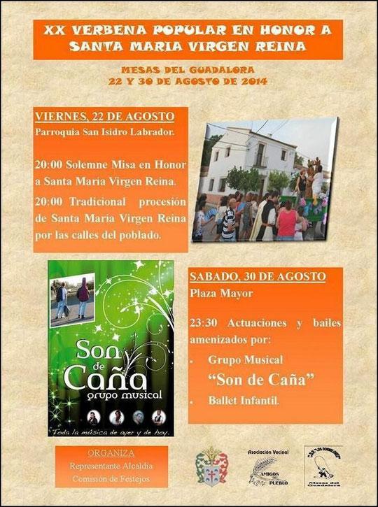 """Cartel """"XX VERBENA POPULAR"""" en Mesas del Guadalora. - Haz """"clic"""" en la imagen para ampliar."""
