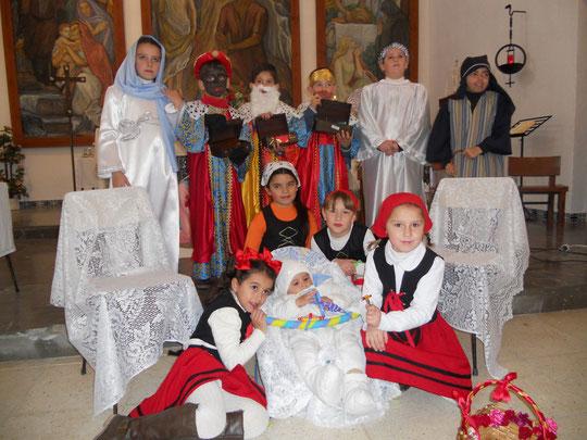"""""""Belén Viviente"""" realizado por los niños y niñas de la Catequesis de Mesas del Guadalora - (Haz """"clic"""" en la imagen para ampliar)"""