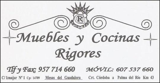 """MUEBLES Y COCINAS """"RIGORES""""."""