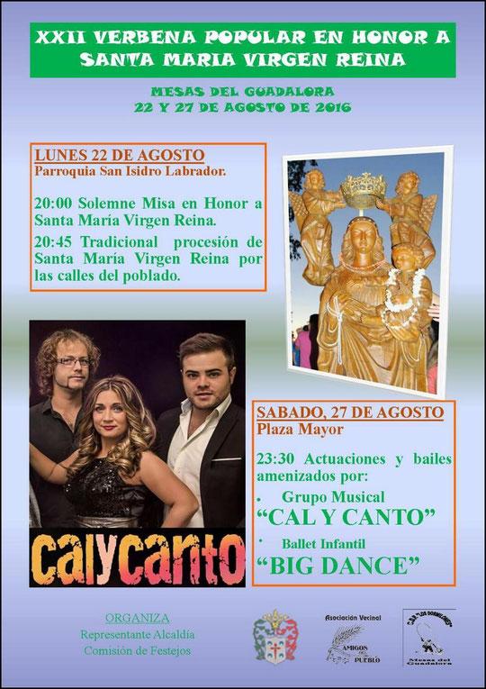 """Cartel """"XXII VERBENA POPULAR"""" en Mesas del Guadalora. - Haz """"clic"""" en la imagen para ampliar."""