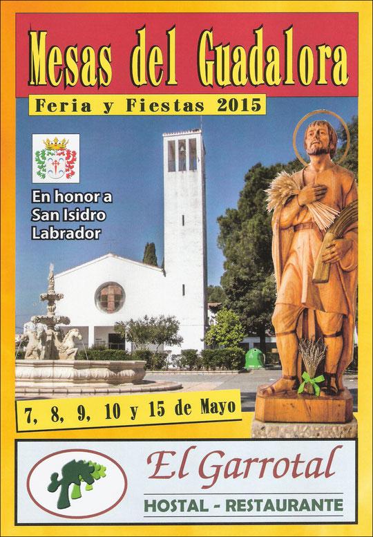 """Cartel """"Feria de San Isidro Labrador 2015"""" en MESAS DEL GUADALORA. - Haz """"clic"""" en la imagen para ampliar."""