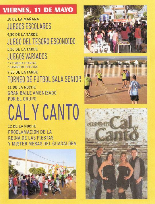 """Programación """"FERIA DE SAN ISIDRO 2012"""" en MESAS DEL GUADALORA. - Haz """"clic"""" en la imagen para ampliar."""
