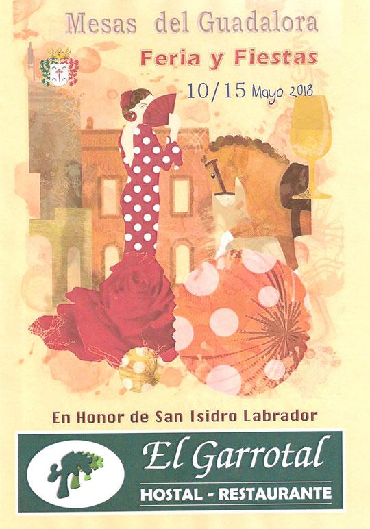 """Cartel """"Feria de San Isidro Labrador 2018"""" en MESAS DEL GUADALORA. - Haz """"clic"""" en la imagen para ampliar."""