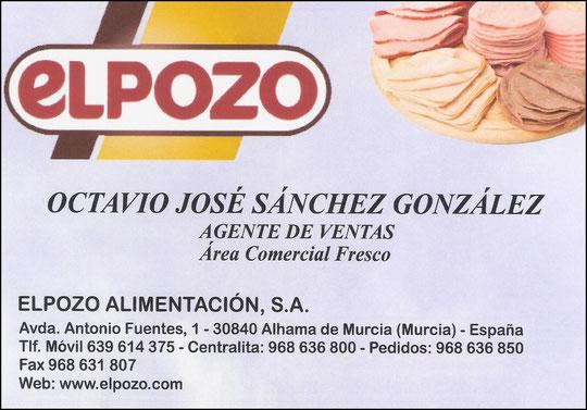 """OCTAVIO JOSÉ SÁNCHEZ GONZÁLEZ - DISTRIBUIDOR OFICIAL DE """"EL POZO ALIMENTACIÓN, S. A."""" EN LA PROVINCIA DE CÓRDOBA."""