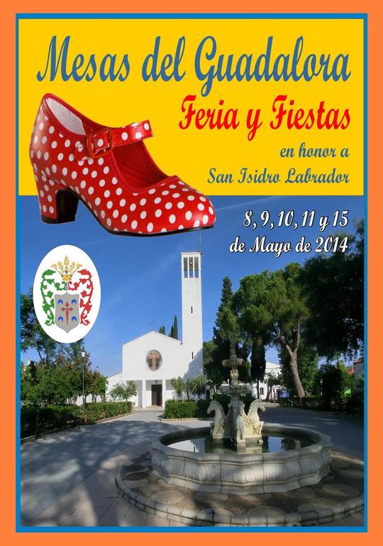 """Cartel """"Feria de San Isidro Labrador 2014"""" en MESAS DEL GUADALORA. - Haz """"clic"""" en la imagen para ampliar."""