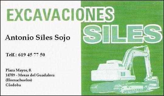 """EXCAVACIONES """"SÍLES""""."""