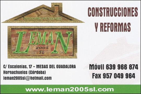 """CONSTRUCCIONES Y REFORMAS """"LEMAN 2005 S.L."""""""