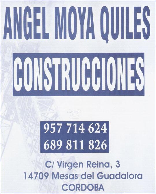"""CONSTRUCCIONES """"ÁNGEL MOYA QUILES""""."""