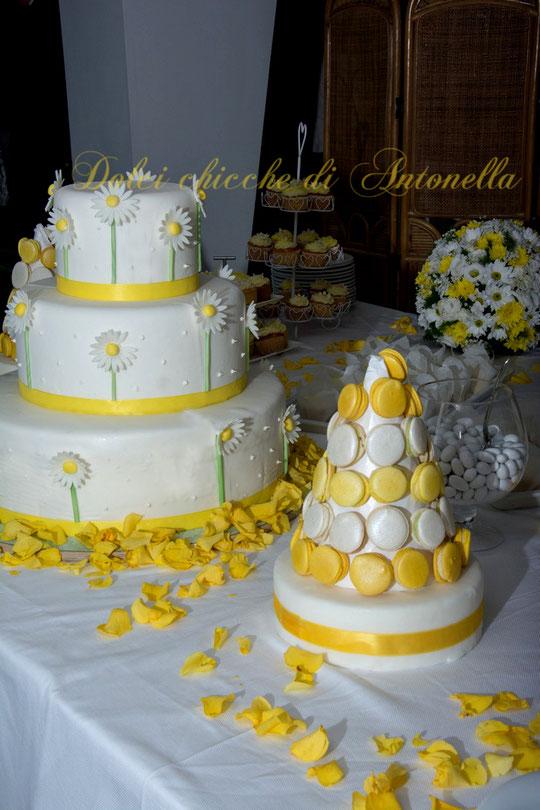 wedding-wedding cake-buffet-dolci-macarons-torta matrimonio-torte-la spezia