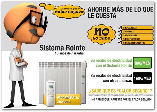 Calefaccion electrica de bajo consumo rointe - Calefaccion electrica consumo ...