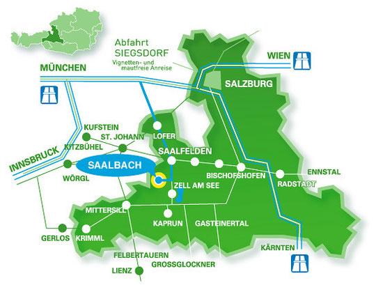 Anfahrtsplan Saalbach