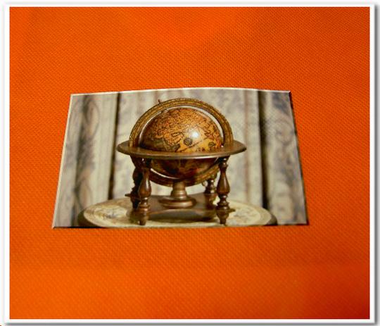 不織布バッグに写真の印刷:不織布オレンジに写真をインクジェット転写
