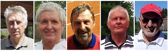 Die Aufsteiger: H. Asch, P. Schwabe, D. Rzepka, G. Schumacher und R. Wilting