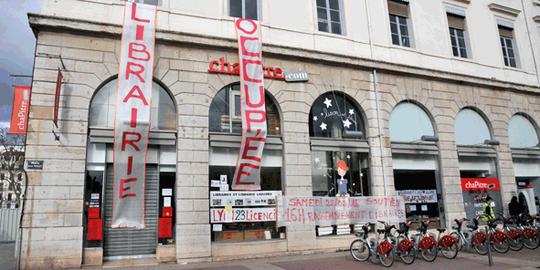 La fin de Chapitre, l'ex librairie Flammarion de Lyon