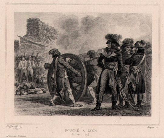 Fouché à Lyon en janvier 1794, gravure de 1834
