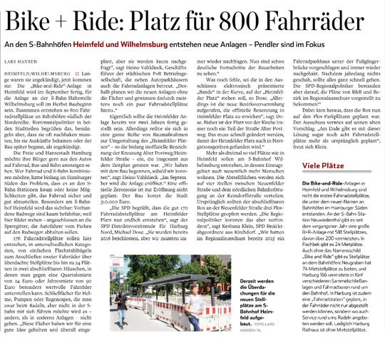 Hamburger Abendblatt, Harburg Teil, 27.07.2019 Seite 1