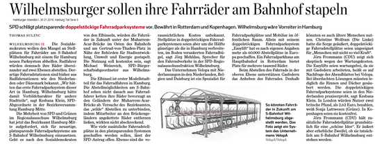 Hamburger Abendblatt 30.01.2016, Harburg Teil Seite 3