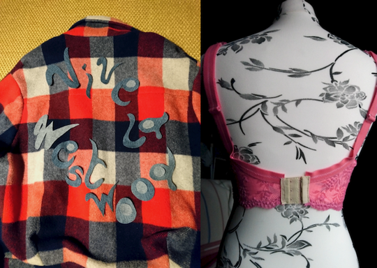 UFOS from 2019: Lumberjack jacket and bra, back view © Griselka 2021