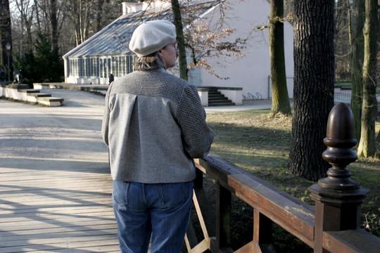 Rückenansicht der Tweedjacke mit Kellerfalte © Griselka 2021
