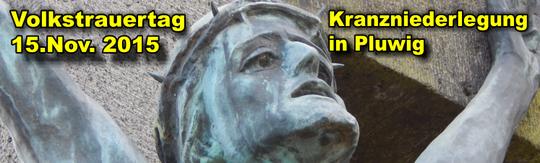 Pluwig, Kriegerdenkmal, Bronzefigur von A. Nagel; Foto: Theophil Schweicher