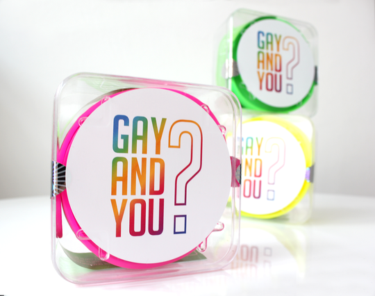 Knallige GAY AND YOU Neon Gürtel!