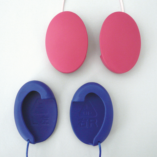 私のミミ 画像 ローズ ブルー 補聴耳カバー つけ耳