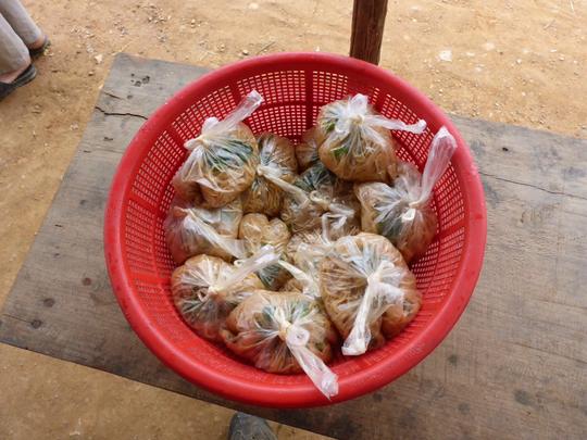Nudeln für die Schulkinder als Pausenbrot - school childrens meal