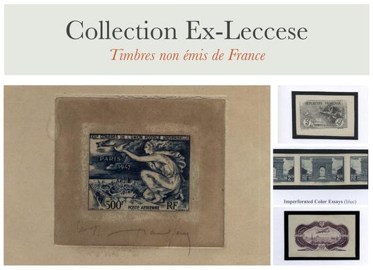 Présentation des épreuves d'artiste et essais de timbres non émis de France