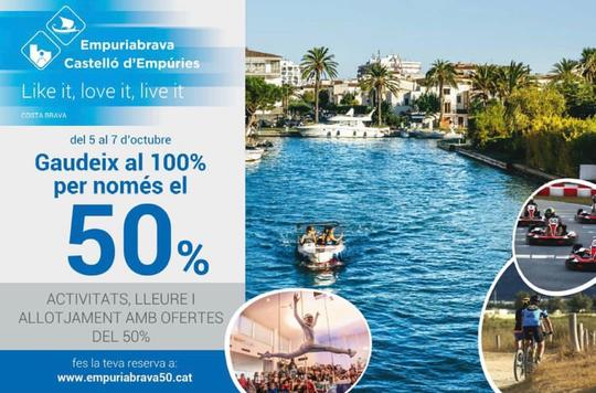 50% Ermäßigung auf verschiedene Aktivitäten vom 5.-7.10.2019 - Infos beim Tourist-Center