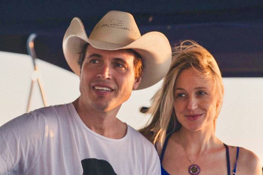 Kimbal Musk and his wife Christiana