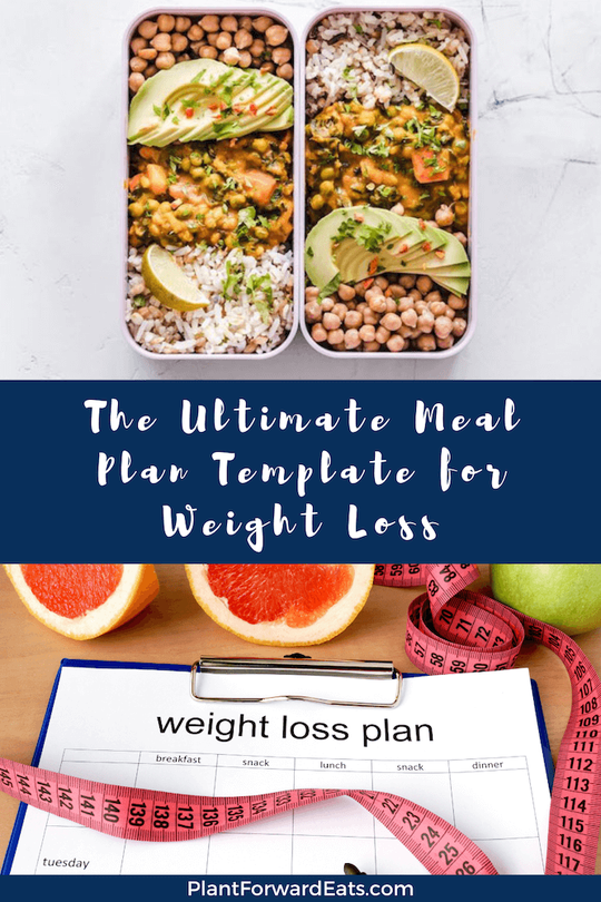 Want a free printable meal plan template for weight loss? These plans will help weight loss meal prep be easier, plus get lots of weight loss meals and recipes! #mealplan #mealprep #weightloss #freemealplan #plantbased #freebie #nutrition