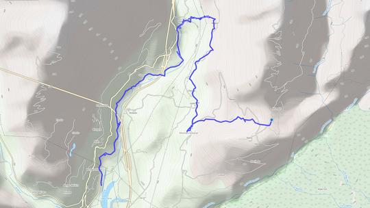 DA CREVOLA A ALTOGGIO distanza 10 chilometri dislivello 700 metri