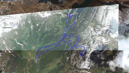 Distanza percorsa circa 13 chilometri, dislivello m. 630