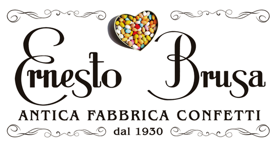 logo ernesto brusa, antica fabbrica confetti