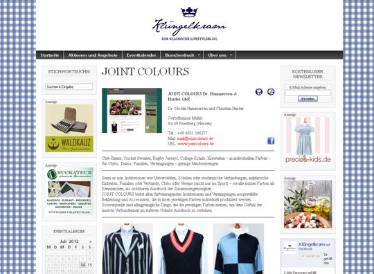 Clubbekleidung von Joint Colours