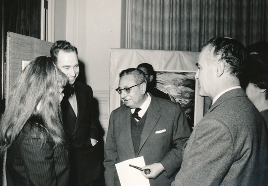 Cairo - Bettina in conversation with the Egyptian Minister of Culture, 1962