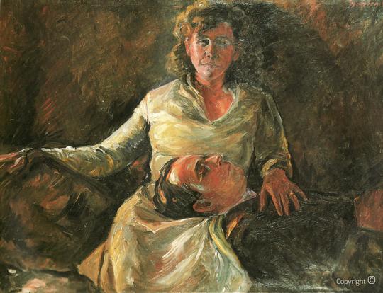 """Die große Muse des Künstlers – Erna Heinen-Steinhoff  (1898-1969): Sogenanntes """"Nachtbild"""" Werkverzeichnis Erwin Bowien WV N° 57"""