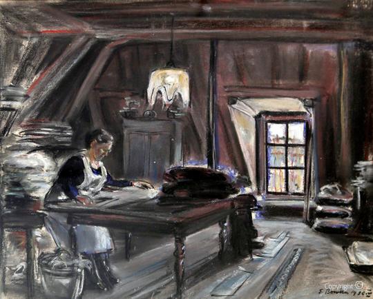 Erwin Bowien ( 1899-1972): Eine Dachkammer an der Prinzengracht in Amsterdam, 1936