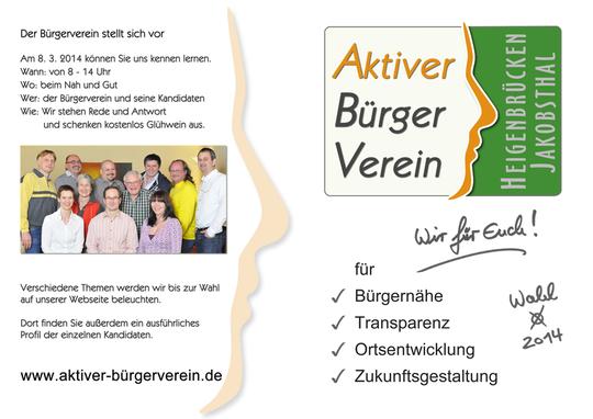 ABV Handzettel - Wahl